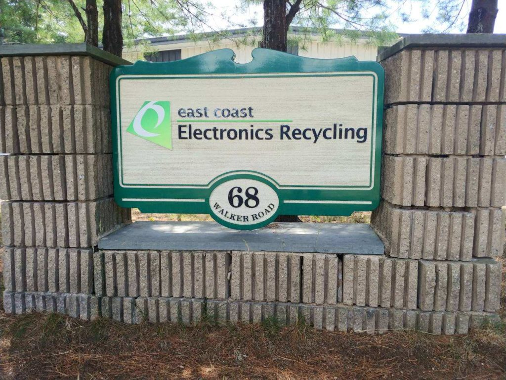 East Coast Electronics Recycling Office Sign