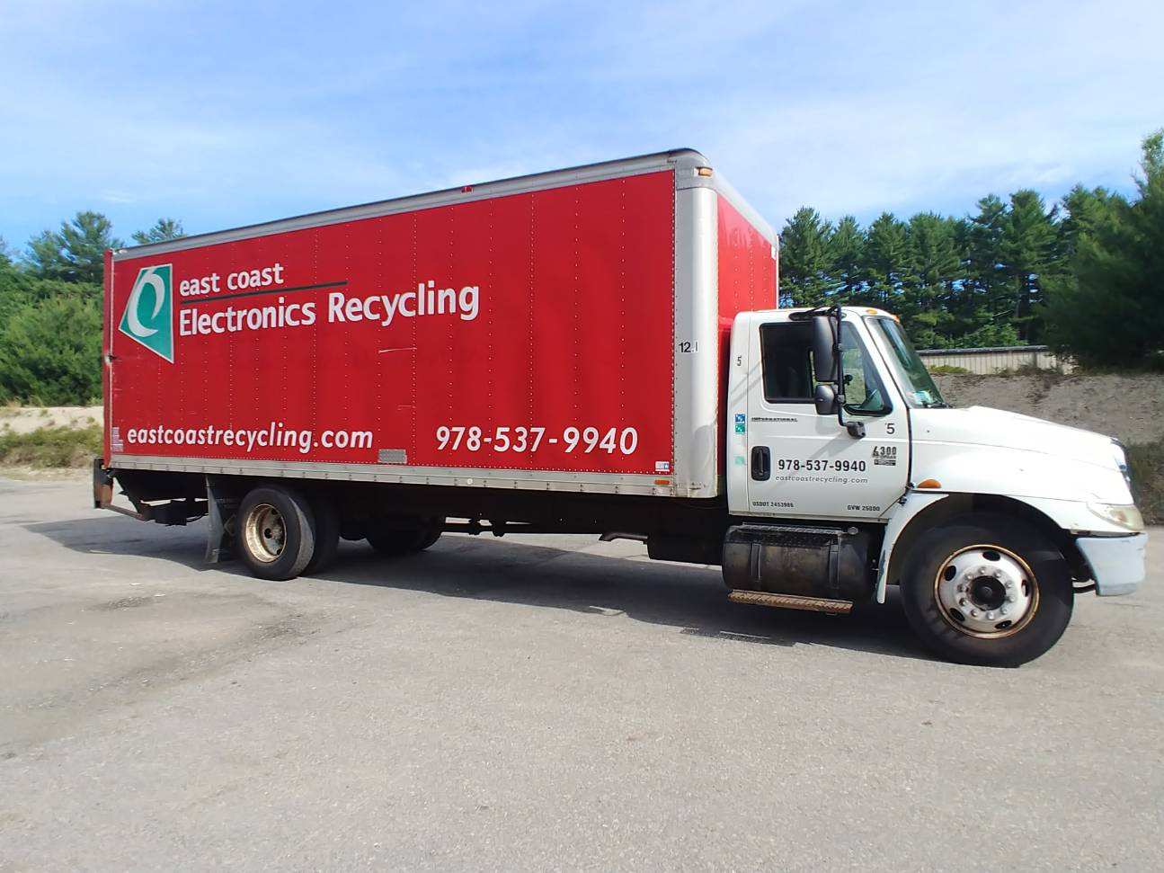 Red East Coast Electronics Recycling Truck