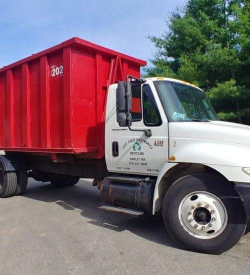 East Coast Electronics Recycling Red Bin